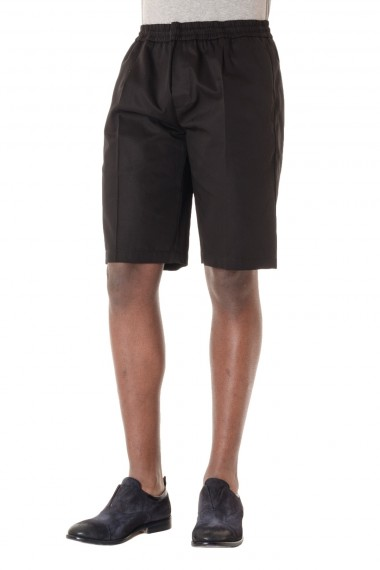 P/E 16 Bermuda da uomo in cotone PAOLO PECORA colore nero