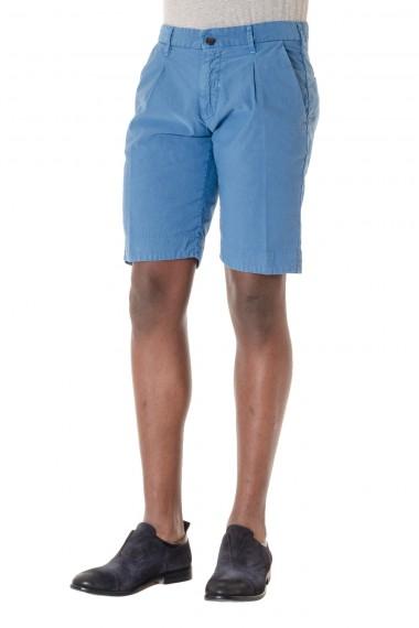 MYTHS P/E 16 Bermuda da uomo in cotone e lino colore blu