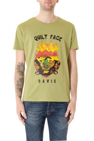 P/E 16 T-shirt colore verde  con stampa MATT DAVIS  per uomo