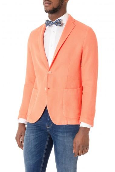 Giacca arancione per uomo in tessuto tramato CAPRI P/E 16