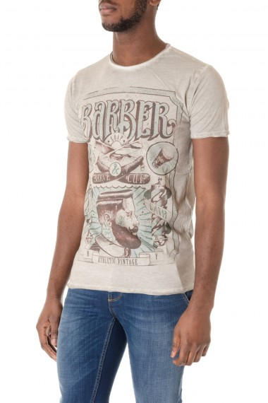 Dove gray t-shirts for men ATHLETIC VINTAGE S/S 16 with print