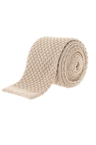 RIONE FONTANA Cravatta in seta di colore beige P/E 16