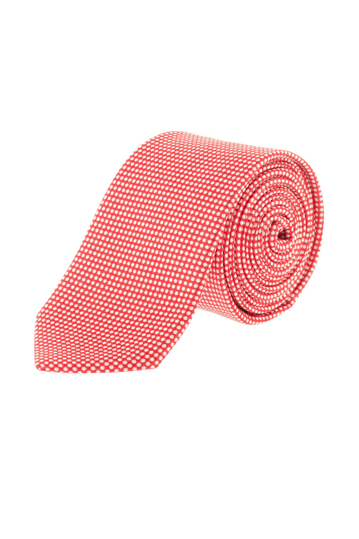 P/E 16 Cravatta arancione a pois bianchi RIONE FONTANA - Rione Fontana