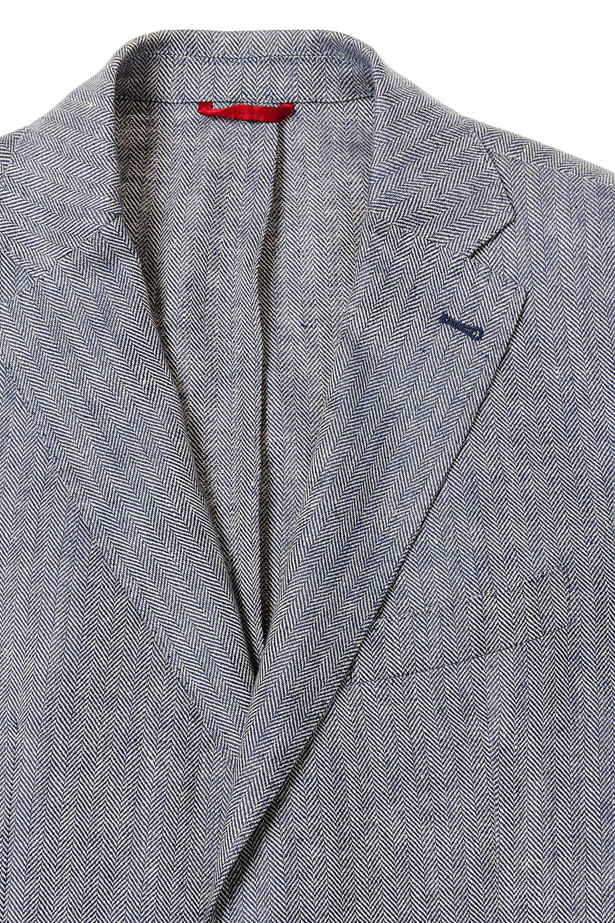 hot sale online a1816 a0a4f FAY Giacca bianca e blu in lino P/E - Rione Fontana