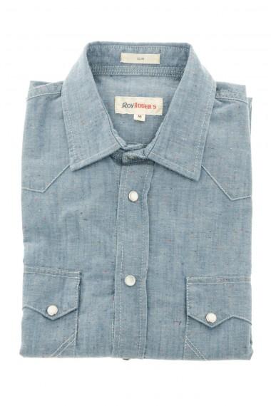 Shirt for men in denim fabric ROY ROGER'S S/S 16