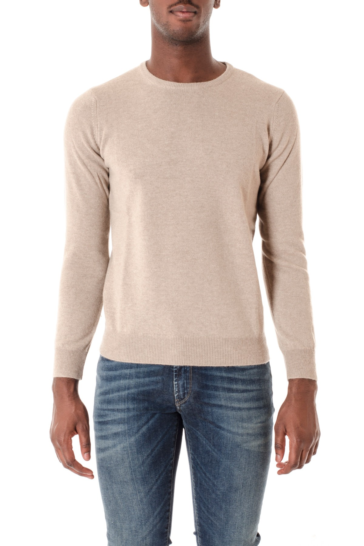 6d105d1f9214 Beige cashmere crew-neck sweater for men RIONE FONTANA F W 16-17. Tap to  expand