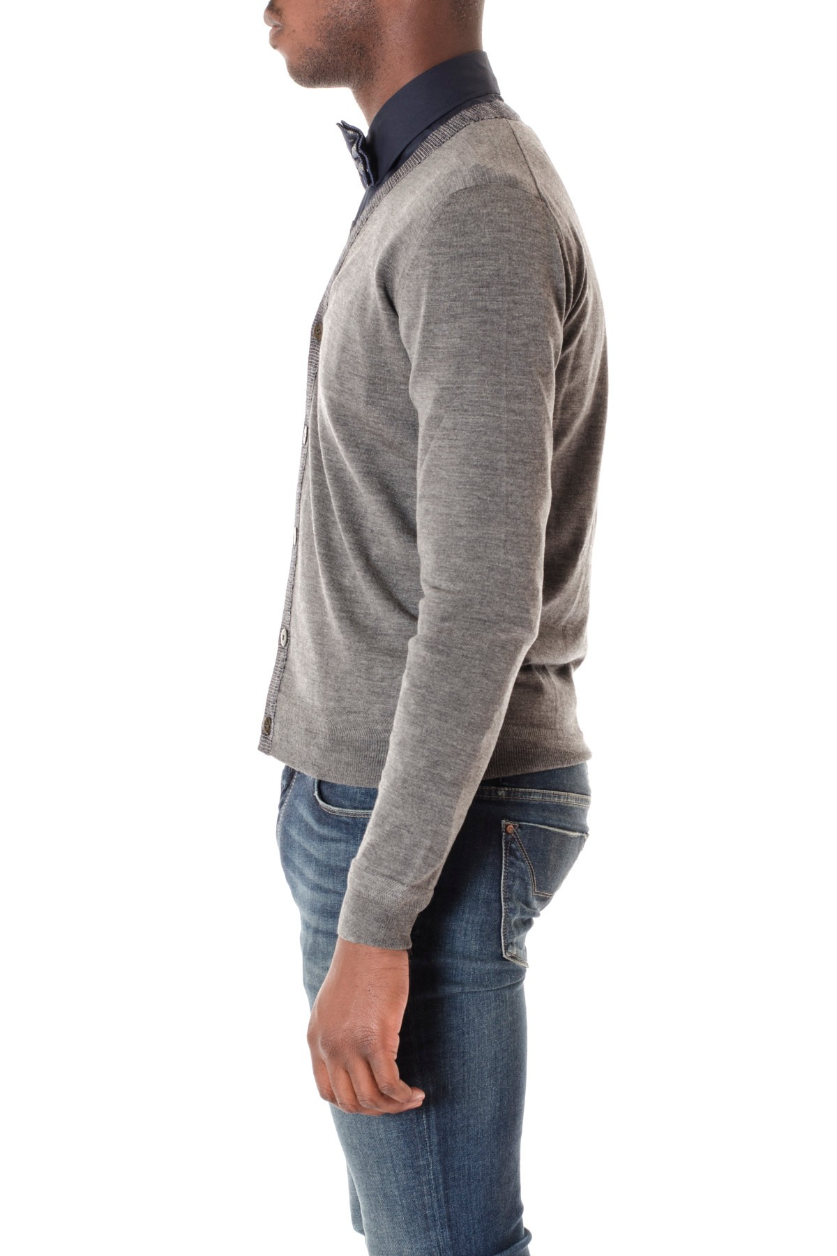 new arrival d9c05 b261a Cardigan per uomo in maglia di lana ETRO A/I colore grigio ...