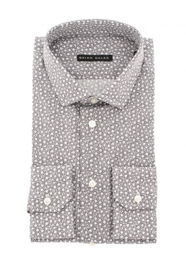 Camicia bianca e grigia BRIAN DALES A/I 16-17 in cotone