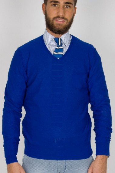 Brian Dales. Cornflower blue sweater