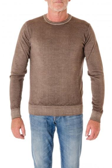 WOOL & CO. Maglia a girocollo colore marrone lavato A/I 16-17 per uomo
