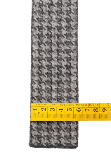 F/W 16-17 Gray and green houndstooth tie for men ELEVENTY