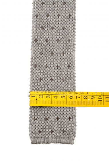 ELEVENTY Beige wool tie for men F/W 16-17