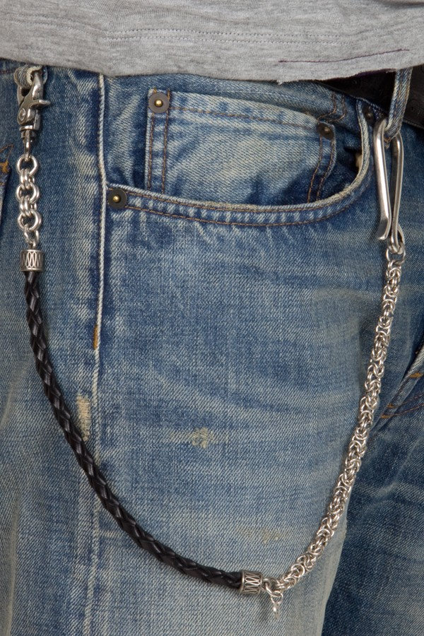Andrea D'Amico. Metal and leather keychain