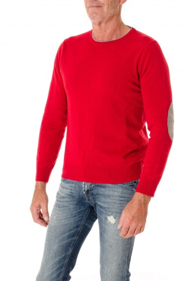 F/W 16-17  Red round neck sweater for men RIONE FONTANA