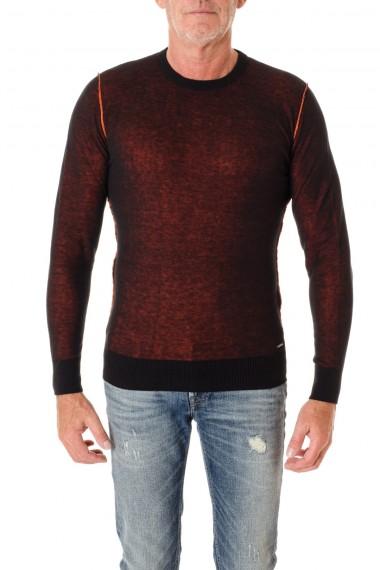 Girocollo per uomo  DIESEL reversibile A/I 16-17 colore arancione nero
