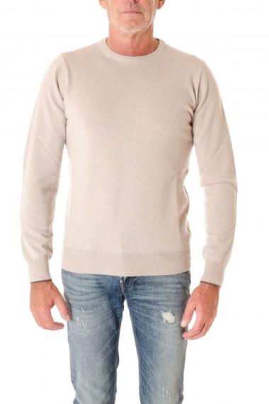 Girocollo per uomo RIONE FONTANA colore beige  con toppe A/I 16-17