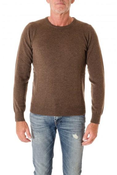 Girocollo marrone per uomo in A/I 16-17 cashmere RIONE FONTANA