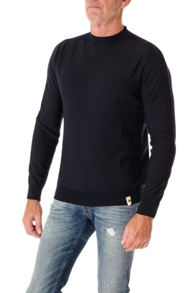 H953 Blue crewneck sweater for men F/W 16-17