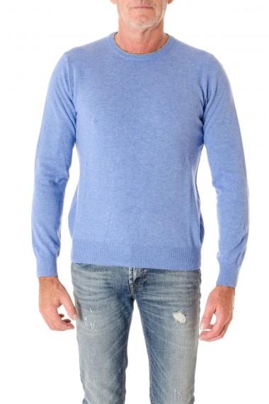 F/W 16-17 Sky blue crewnek sweater for men RIONE FONTANA