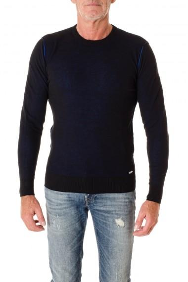 Blue and cornflower blue reversible round neck sweater for men DIESEL F/W 16-17