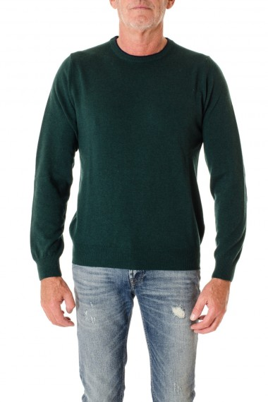 Round neck for men with patches of green RIONE FONTANA F/W 16-17 for men