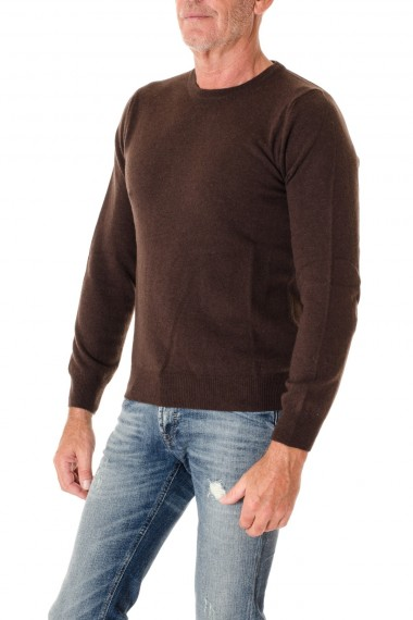 Brown round neck sweater for men RIONE FONTANA F/W 16-17