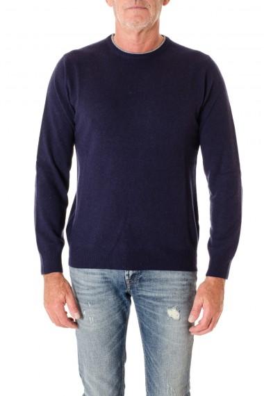 Girocollo blu per uomo con toppe grigie RIONE FONTANA A/I 16-17blu per uomo con toppe grigie RIONE FONTANA A/I 16-17