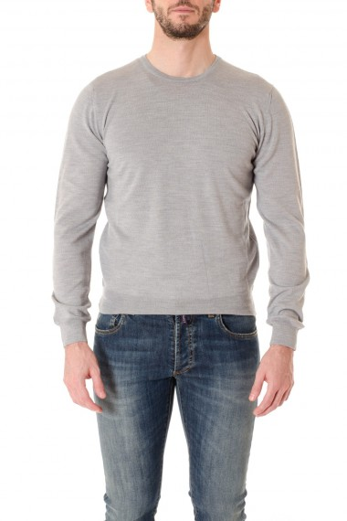 RIONE FONTANA F/W 16-17 Gray round neck sweater for men