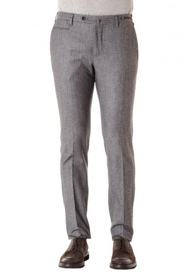 White and gray melange trousers for men PT01 F/W 16-17