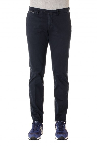 F/W 16-17 Blue cotton trousers for men ELEVENTY