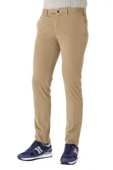 Pantaloni INCOTEX in cotone beige modello COMFORT CHINO A/I 16-17