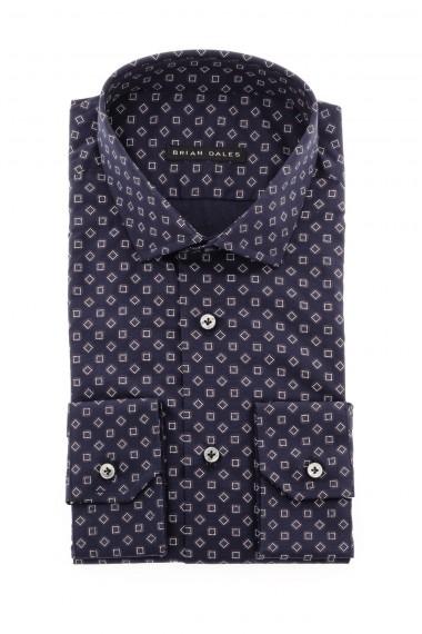 Camicia BRIAN DALES blu scuro con disegni a quadretti A/I 16-17