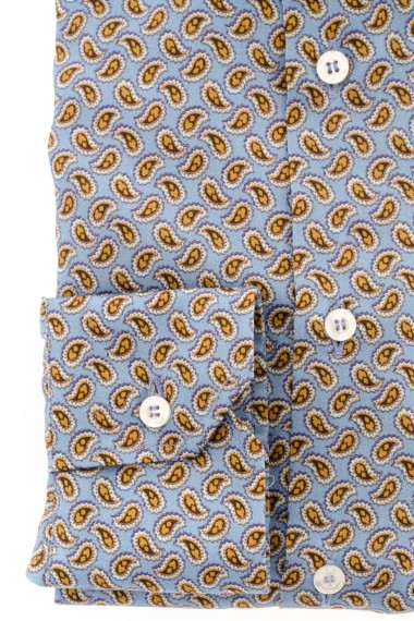Light blue patterned shirt for men ETRO F/W 16-17