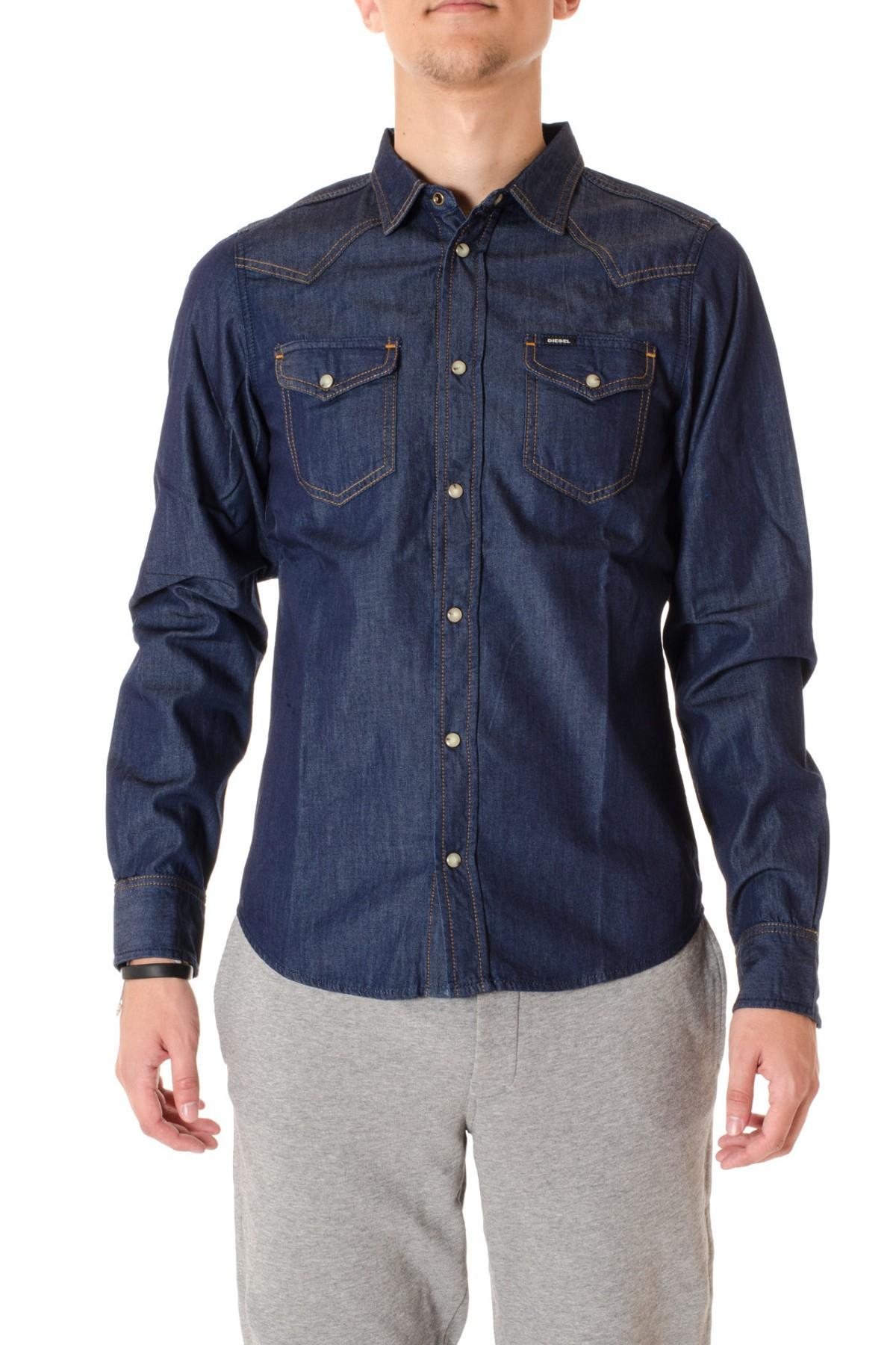 22e86e9fd259e1 Camicia in denim blu DIESEL A/I per uomo - Rione Fontana