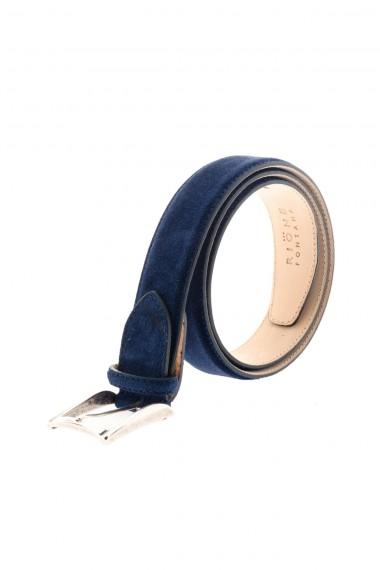 A/I 16-17 Cintura in vera pelle per uomo RIONE FONTANA blu