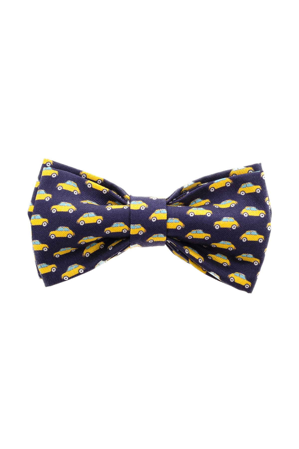 FEFE blue bowtie with yellow cars