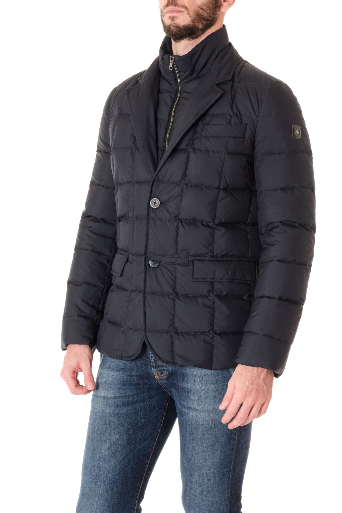 Fay F W 16 17 Blue Double Jacket For Men Rione Fontana