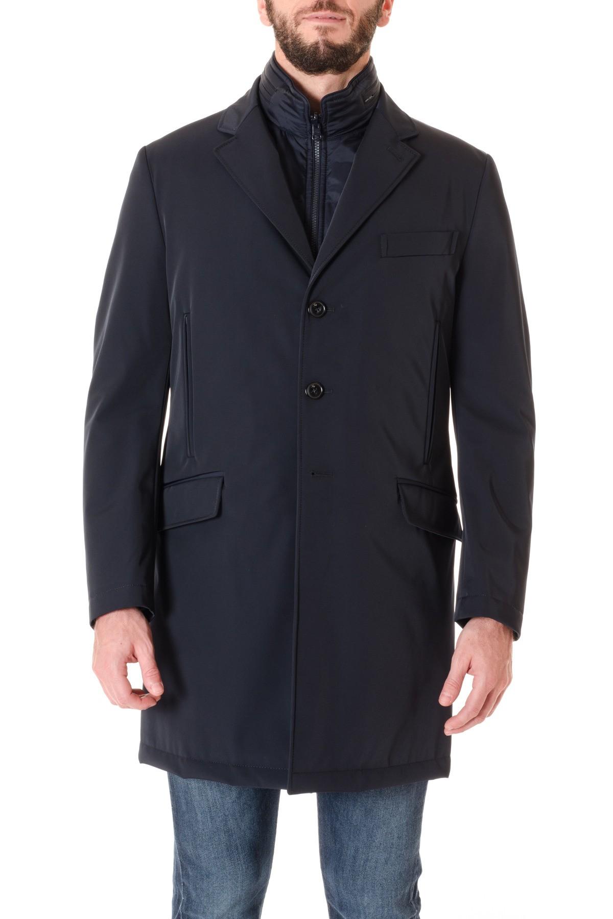 ad10f133e8872 FAY A I Double Coat per uomo blu scuro in TESSUTO TECNICO - Rione ...