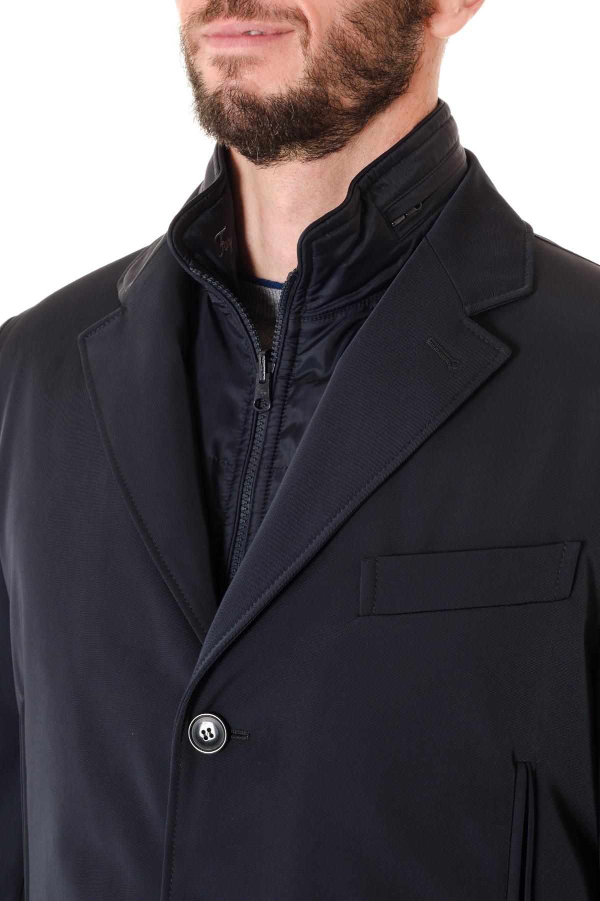 FAY A I Double Coat per uomo blu scuro in TESSUTO TECNICO - Rione ... 01889d0e7ff