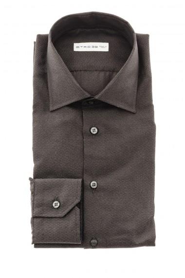 Camicia marrone con micro fantasia A/I 16-17 ETRO