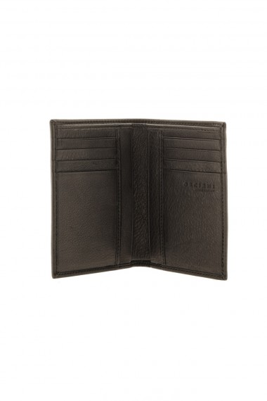 Black genuine leather wallet ORCIANI