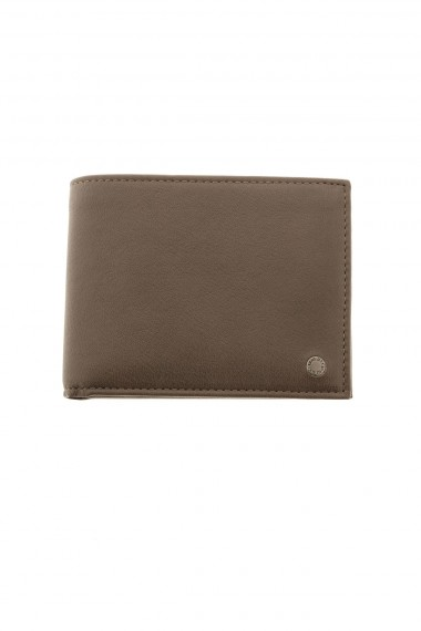 Dark brown genuine leather wallet ORCIANI
