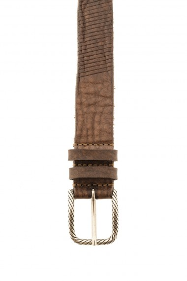 Brown belt for men F/W 16-17 RIONE FONTANA with stripes