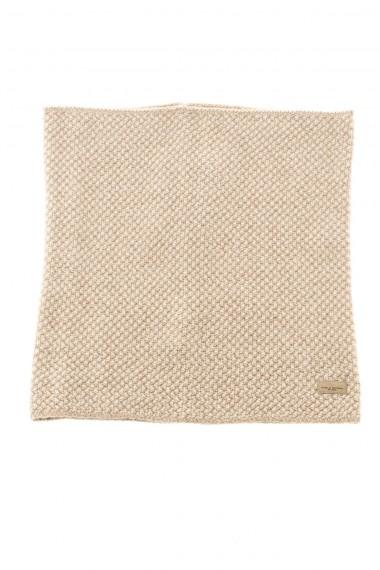 PAOLO PECORA Sciarpa beige per uomo A/I 16-17 in maglia di lana
