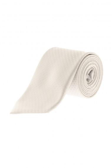 A/I  RIONE FONTANA Cravatta bianca in seta per uomo