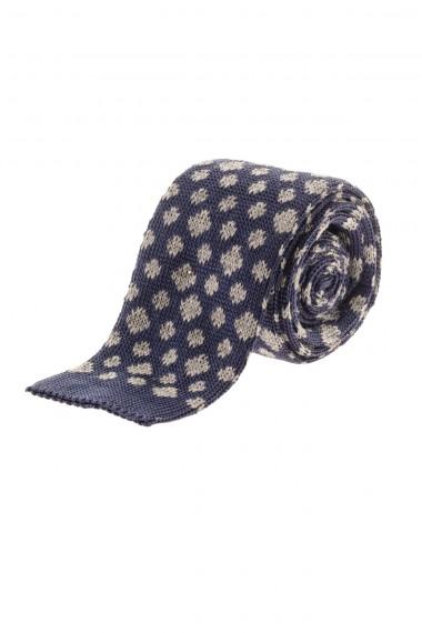 Cravatta blu con disegni RIONE FONTANA per uomo A/I 16-17