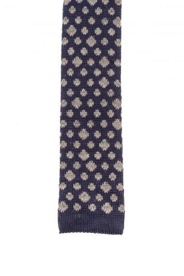 F/W 16-17 RIONE FONTANA Blu tie with gray designs for men
