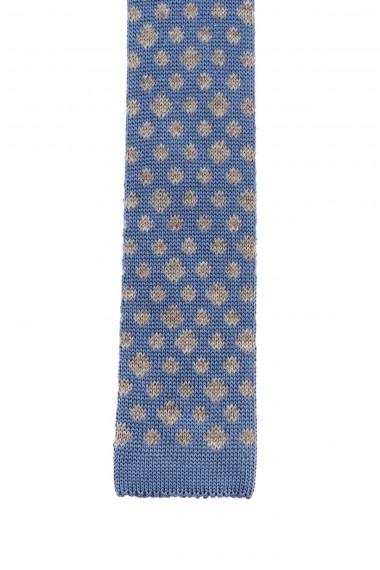 Light blue tie with gray designs for men F/W 16-17 RIONE FONTANA
