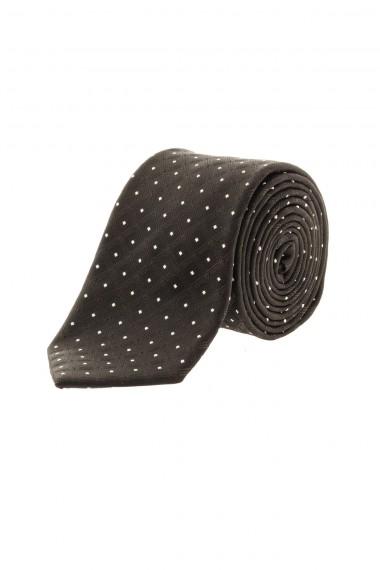 A/I 16-17 Cravatta nera a pois bianchi RIONE FONTANA per uomo