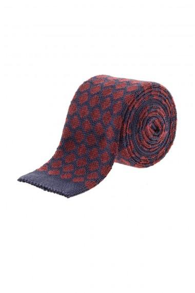 Cravatta in seta blu e bordo' per uomo A/I 16-17 RIONE FONTANA